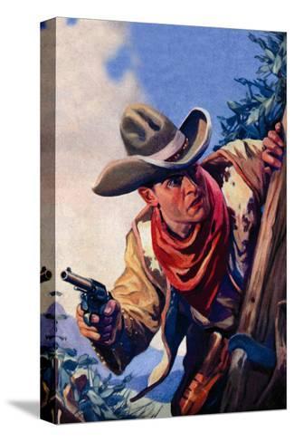 Western Story Magazine: On the Black Ridge--Stretched Canvas Print