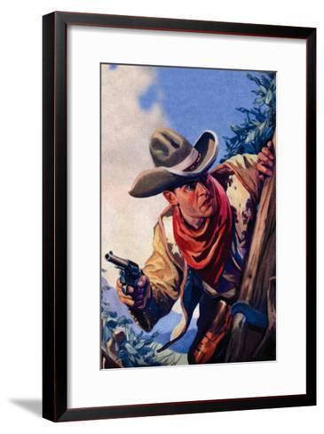 Western Story Magazine: On the Black Ridge--Framed Art Print