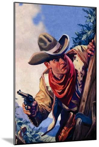 Western Story Magazine: On the Black Ridge--Mounted Art Print