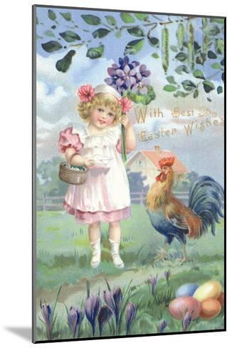 Easter Flowers--Mounted Art Print