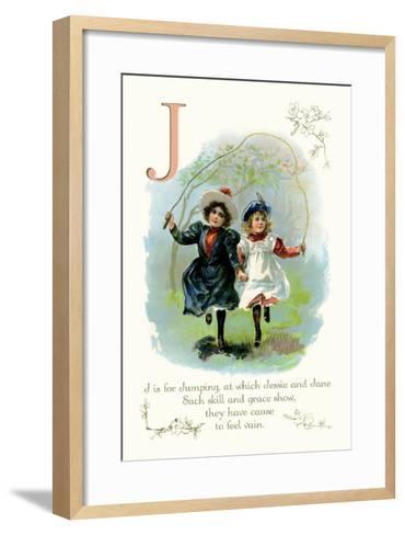 J is for Jumping--Framed Art Print