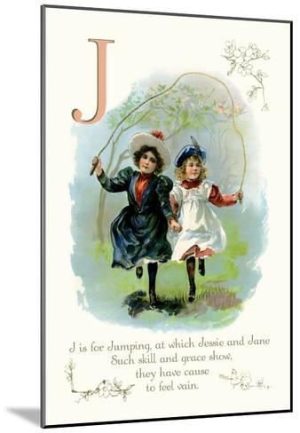 J is for Jumping--Mounted Art Print