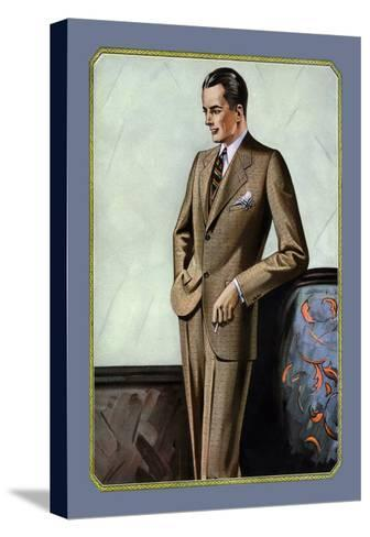Young Men's Two-Button Sack--Stretched Canvas Print