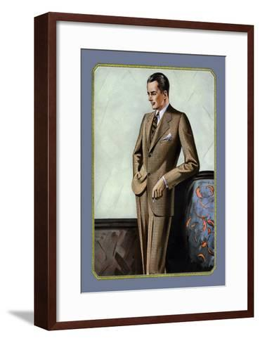 Young Men's Two-Button Sack--Framed Art Print