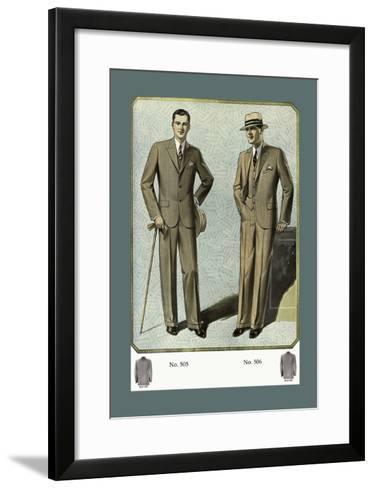 Young Men's Three-Button Sack--Framed Art Print