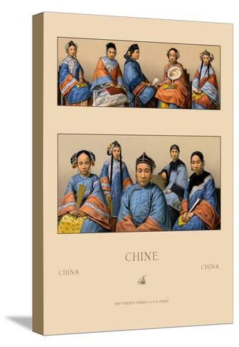 Chin Manchu Women-Racinet-Stretched Canvas Print