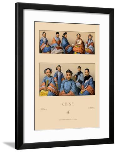 Chin Manchu Women-Racinet-Framed Art Print