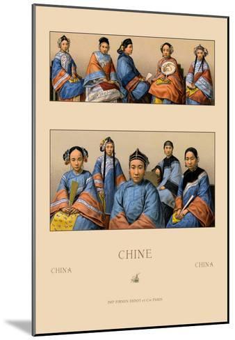 Chin Manchu Women-Racinet-Mounted Art Print