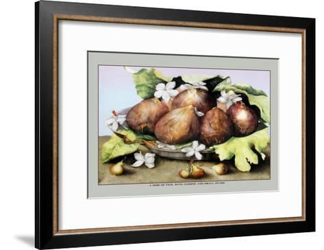 Dish of Figs with Jasmine and Small Pears-Giovanna Garzoni-Framed Art Print