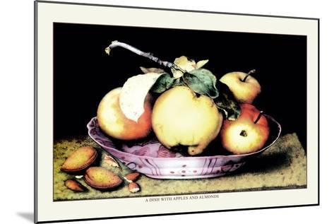 Dish with Apples and Almonds-Giovanna Garzoni-Mounted Art Print