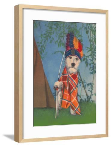 Indian Dog--Framed Art Print