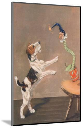 Playful Wire-Haired Terrier-Diana Thorne-Mounted Art Print