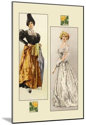 Haute-Couture--Mounted Art Print