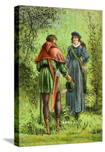 Robin Hood and Maid Marian--Stretched Canvas Print
