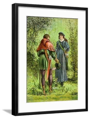 Robin Hood and Maid Marian--Framed Art Print