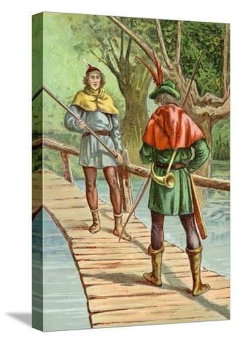 Robin Hood: Encounter with a Giant--Stretched Canvas Print