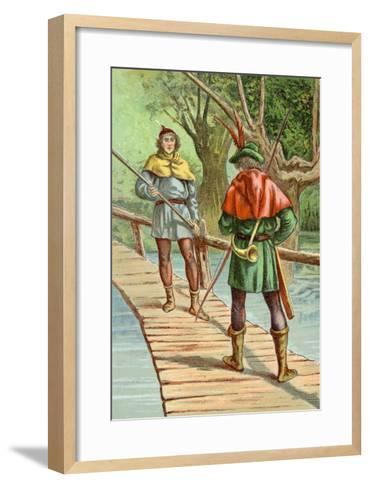 Robin Hood: Encounter with a Giant--Framed Art Print