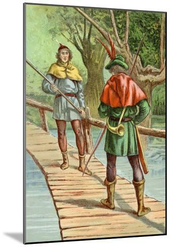 Robin Hood: Encounter with a Giant--Mounted Art Print