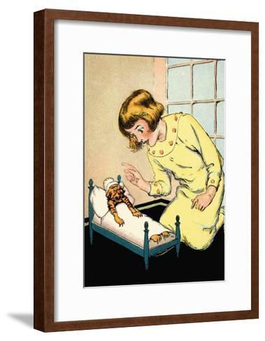 Be Good, Hungry Tiger-John R^ Neill-Framed Art Print