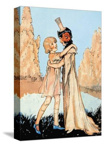 Betsy and Ozma-John R^ Neill-Stretched Canvas Print