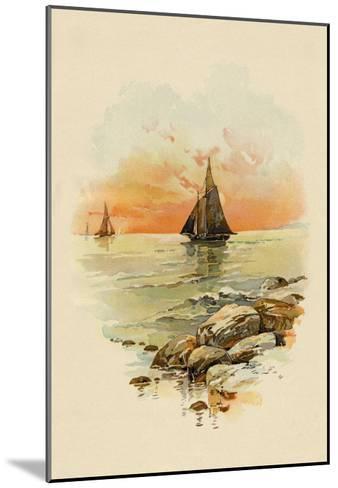 Sun Sets--Mounted Art Print