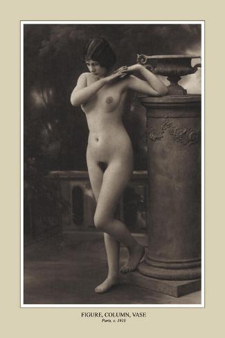 Figure, Column, Vase--Stretched Canvas Print