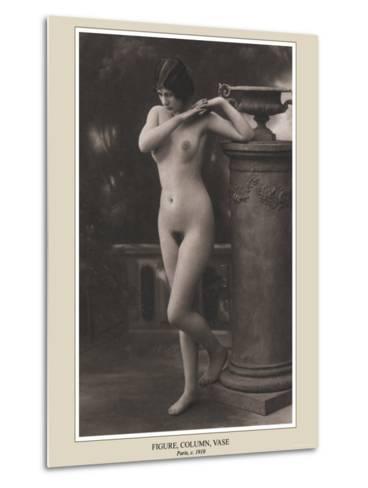 Figure, Column, Vase--Metal Print