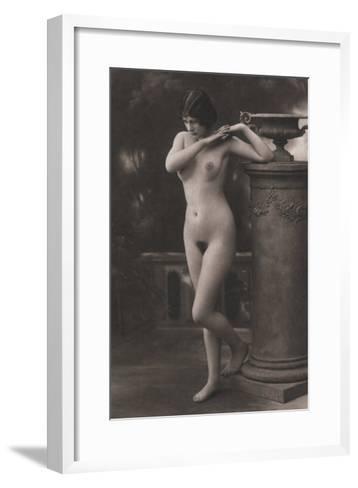 Figure, Column, Vase--Framed Art Print
