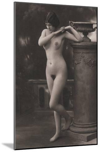 Figure, Column, Vase--Mounted Photo
