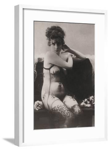 The Dress of Tulle--Framed Art Print