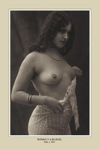 Without a Blouse--Stretched Canvas Print