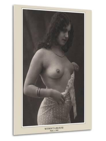 Without a Blouse--Metal Print