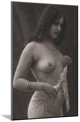 Without a Blouse--Mounted Photo