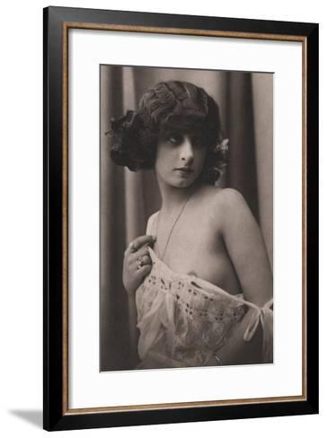 Shyness Overcome--Framed Art Print
