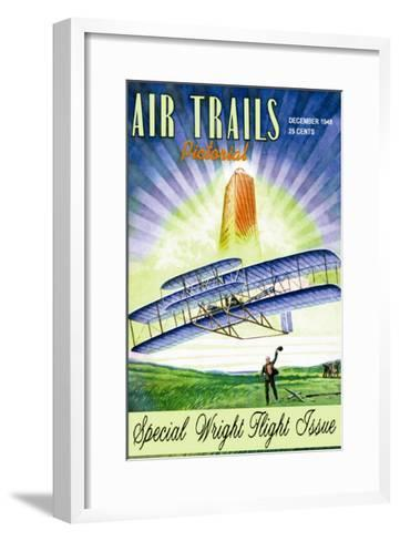 Air Trails Pictorial--Framed Art Print