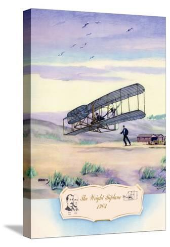 The Wright Biplane, 1903-Charles H. Hubbell-Stretched Canvas Print