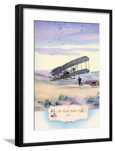 The Wright Biplane, 1903-Charles H. Hubbell-Framed Art Print