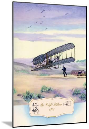 The Wright Biplane, 1903-Charles H. Hubbell-Mounted Art Print