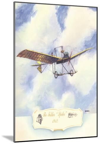 The Fokker Spider, 1912-Charles H. Hubbell-Mounted Art Print