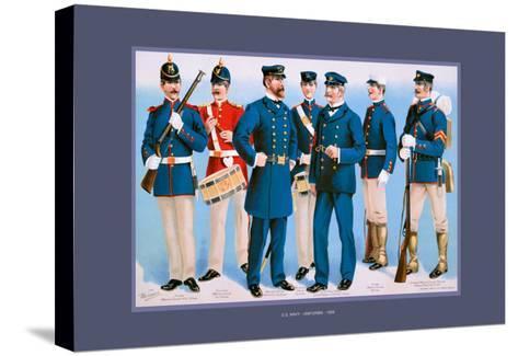 U.S. Navy: Uniforms, 1899-Werner-Stretched Canvas Print