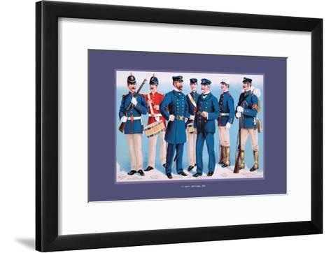 U.S. Navy: Uniforms, 1899-Werner-Framed Art Print