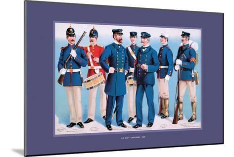U.S. Navy: Uniforms, 1899-Werner-Mounted Art Print