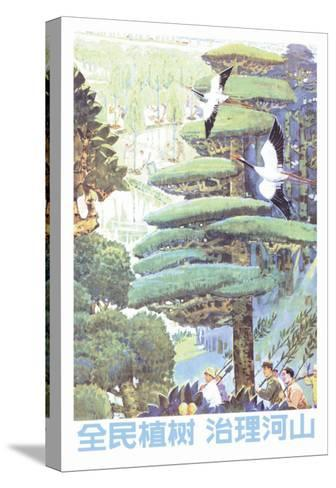Whole People Plant Trees--Stretched Canvas Print