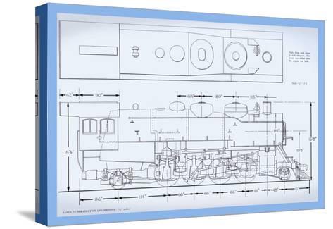 Sante Fe Mikado Type Locomotive--Stretched Canvas Print