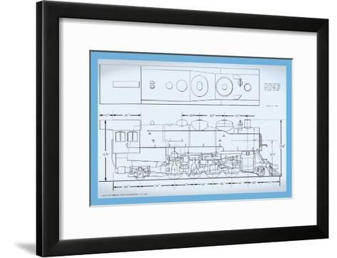 Sante Fe Mikado Type Locomotive--Framed Art Print