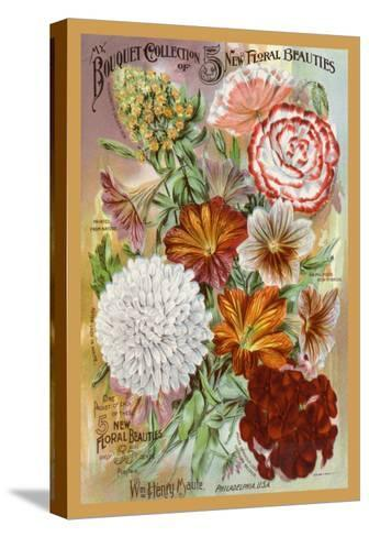 My Bouquet Collection of Five New Floral Beauties--Stretched Canvas Print