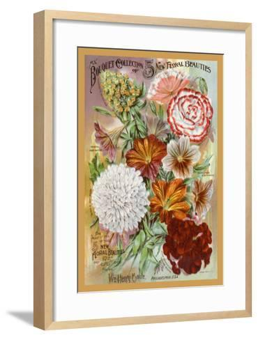 My Bouquet Collection of Five New Floral Beauties--Framed Art Print