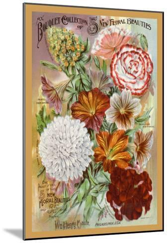 My Bouquet Collection of Five New Floral Beauties--Mounted Art Print