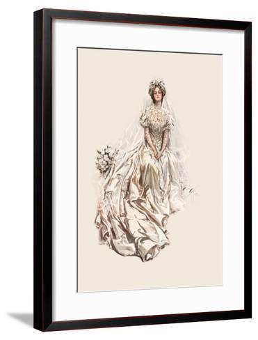 Beautiful Bride-Harrison Fisher-Framed Art Print