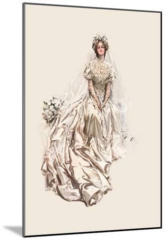 Beautiful Bride-Harrison Fisher-Mounted Art Print